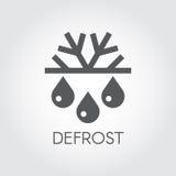 Snöflinga och plan symbol för droppe Symbol av att tina, betinga för luft och ändring av säsongbegreppet Arkivbilder