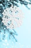 Snöflinga som förbinds med trådar Royaltyfri Foto