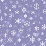 Snöflingabakgrund Vektor Illustrationer