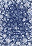 Snöflingabakgrunder Royaltyfria Foton