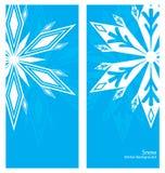 Snöflingabanerbakgrund Royaltyfri Bild