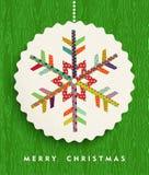 Snöflingadesign för glad jul i lyckliga färger vektor illustrationer