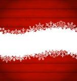 Snöflingagräns för lyckligt nytt år Arkivbild