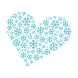 Snöflingahjärta Royaltyfri Bild