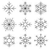 Snöflingalägenhetlinje symbol Royaltyfria Bilder