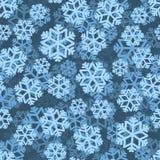 Snöflingamodell 3D close snow texture up white vinter för blåa snowflakes för bakgrund vit snowfall Arkivfoto
