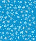 Snöflingamodell på blått Royaltyfri Bild