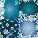 Snöflingamodell seamless texturvektor nytt år för julbegrepp Royaltyfria Bilder