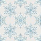 Snöflingamodell - snöflingavektormodell Arkivfoton