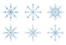 Snöflingasamling Royaltyfria Bilder