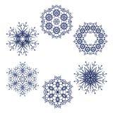 Snöflingasymbol Royaltyfri Bild