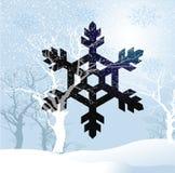 Snöflingasymbol stock illustrationer