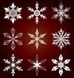Snöflingasymbol i vektor Royaltyfri Bild