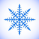 Snöflingavektorclipart Arkivfoto