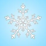 Snöflingavektorclipart Arkivbild