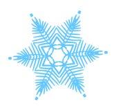 Snöflingavektorillustration Vintersimbol Coror knappuppsättning Arkivfoton