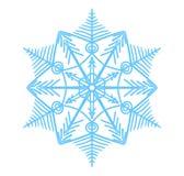 Snöflingavektorillustration Vintersimbol Coror knappuppsättning Arkivfoto