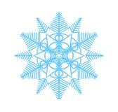 Snöflingavektorillustration Vintersimbol Coror knappuppsättning Royaltyfri Bild