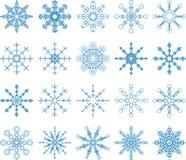 Snöflingavektoruppsättning Arkivfoton