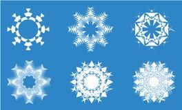 Snöflingor Arkivfoto