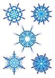 Snöflingor royaltyfri illustrationer