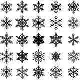 25 snöflingor Arkivfoton
