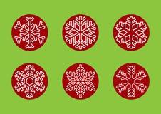 Snöflingor för vinter och julferier Arkivbild