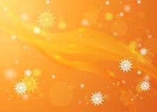 Snöflingor i strålarna av ljus ljus vinter för bakgrund chris vektor illustrationer