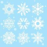 Snöflingor isolerad vektorclipart vektor illustrationer