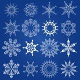 Snöflingor juldesignbeståndsdelar Royaltyfri Fotografi