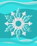 Snöflingor med virvel Arkivfoto