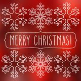 Snöflingor och glad jul Arkivbilder