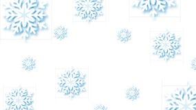 Snöflingor planlägger för vinter med ställetextutrymme Abstrakt snöflingabakgrund för pappers- hantverk hälsningkort för vinter vektor illustrationer