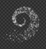 Snöflingor som vrids i virvel vektor illustrationer