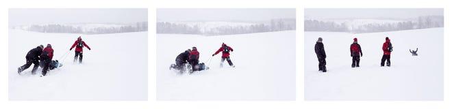 Snöglidning Fotografering för Bildbyråer