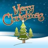 Snögubbe för glad jul Royaltyfri Foto