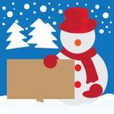 Snögubbe för juldag Royaltyfria Bilder