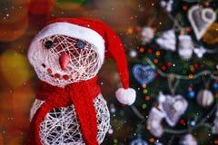 Snögubbe för nytt år för Xmas royaltyfri bild