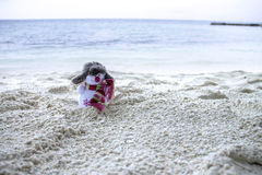 Snögubbe i Maldiverna Royaltyfria Bilder