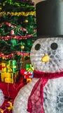 Snögubbe på jul Arkivbilder