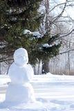 Snögubben Monumentet göras av vit snö Royaltyfria Bilder