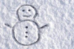 Snögubben skissar Fotografering för Bildbyråer