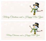 Snögubbes julönska royaltyfri illustrationer
