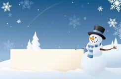Snögubbes snöig tecken stock illustrationer