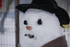 Snögubbestående Fotografering för Bildbyråer