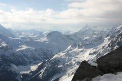 snöig Österrike berg Royaltyfria Bilder