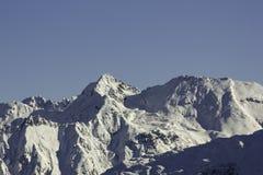 Snöig österrikiskt berg Royaltyfri Bild