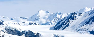 snöig alaska berg royaltyfria bilder