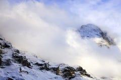 snöig alps Arkivbild