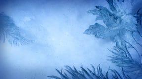 snöig bakgrund Fotografering för Bildbyråer